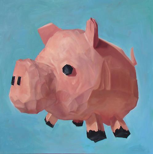 Andrew Smenos  You're Going to Eat It All , 2012 Oil on canvas 48 x 48 inches