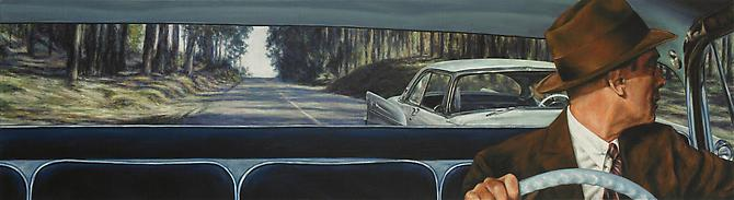 1956 De Soto Firedome Sportsman (Vertigo), 2011   Oil on canvas  10 x 36 inches