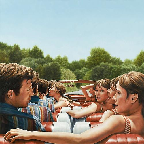1961 Ford Galaxie 500 Sunliner (Pierrot Le Fou), 2010   Oil on canvas  48 x 48 inches