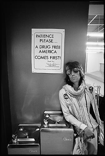 "Keith Richards, ""Patience Please"" 1972 gelatin silver print"