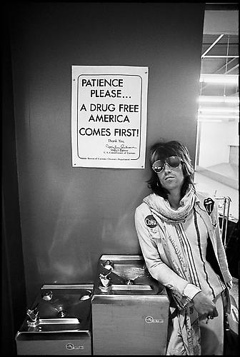 "Ethan Russell, Keith Richards, ""Patience Please"" 1972 gelatin silver print"