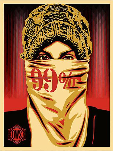 Shepard Fairey Occupy Protestor 99%, 2012 Silkscreen print (serigraph); Edition of 250 18x24 inches