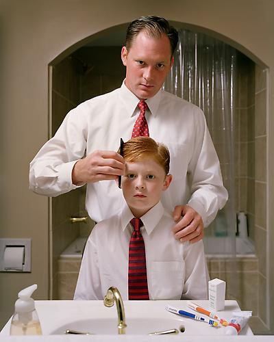 Angela Strassheim,  Untitled (Father and Son) , 2004 Archival pigment ink print 40 x 30 inches Edition of 8