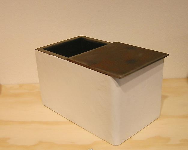 Filter, 2005 steel and paint 4 x 6 x 3 inches