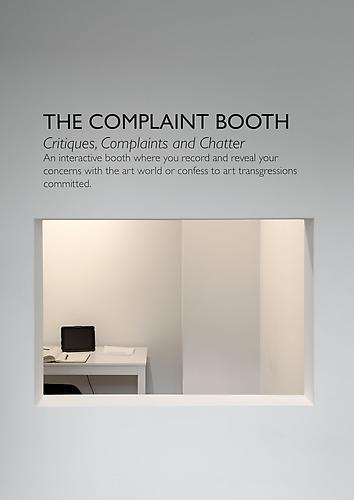 Karen Finley  The Complaint Booth  Work in progress