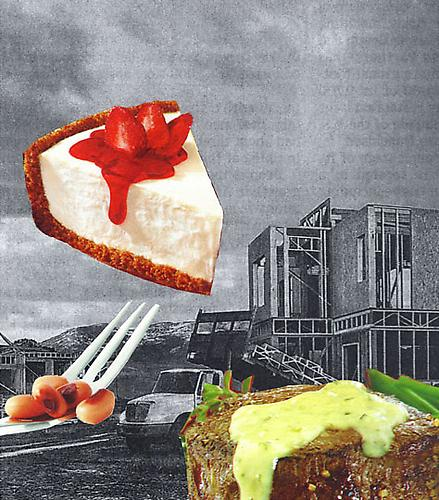 Food and Lodging, 2011 Collage on paper 9 x 12 inches