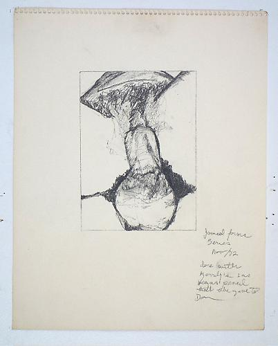 Fuck Drawing, 1972 Graphite on paper 14 x 11 inches 35.6 x 27.9 cm