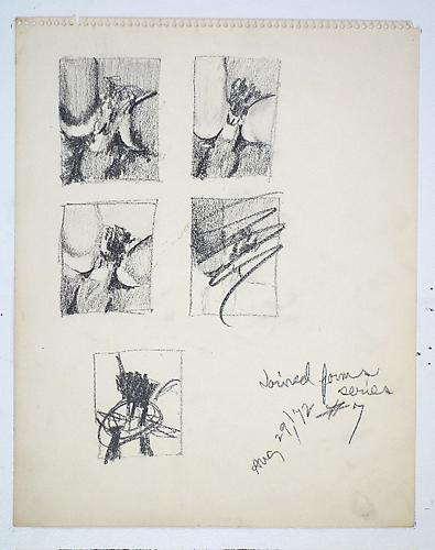 Fuck Drawing #7, 1972 Graphite on paper 14 x 11 inches 35.6 x 27.9 cm
