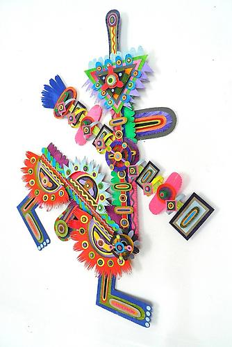 Fuck a Duck, 2011 paper, acrylic, gator board and glue 26.5 x 20.5 x 3 inches