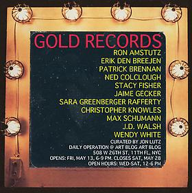 Erik Den Breejen participates in exhibition &quot;GOLD RECORDS,&quot; curated by Jon Lutz
