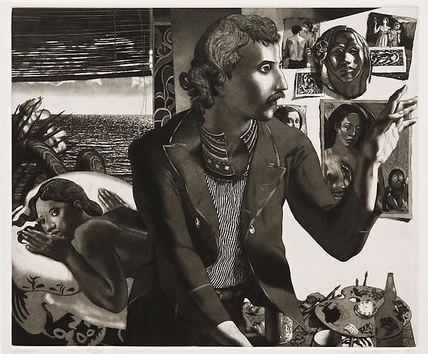 """David Bumbeck, 1983  Gauguin , print 14.75"""" x 17"""""""