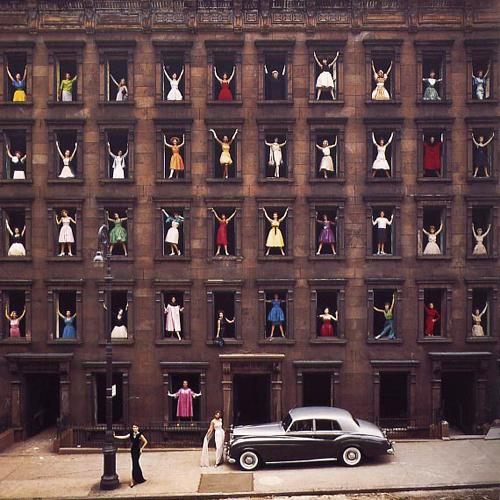 Models in Windows, NYC 1960 Chromogenic print, Signed and numbered