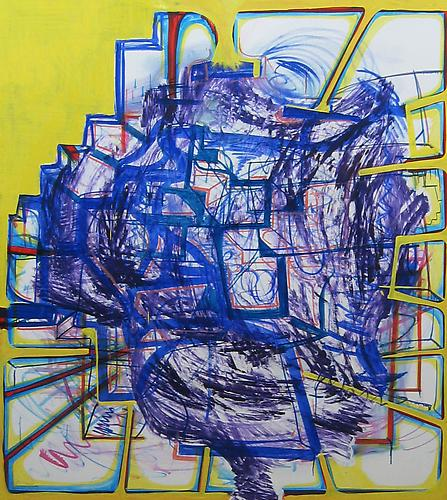 Joanne Greenbaum Untitled 2006  70 x 60 inches oil on linen