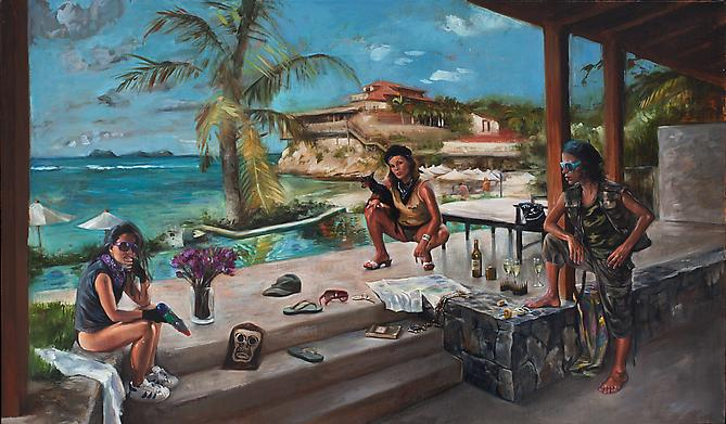 Guerrilla Villa, 2008-2009 Oil on linen 20 x 34 inches