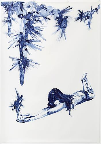 Anthodite, 2012 Ink on drafting film 84 x 60 inches