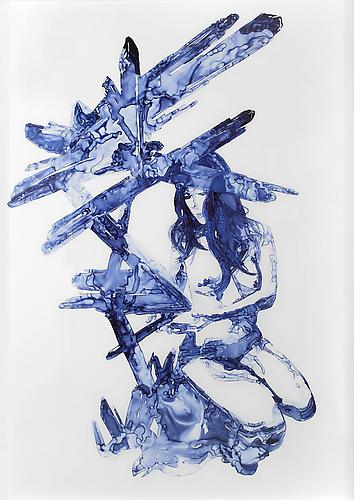 Apophyllite, 2012 Ink on drafting film 84 x 60 inches