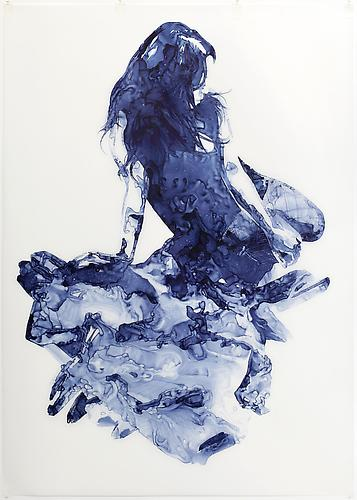 Barite, 2011 Ink on drafting film 84 x 60 inches