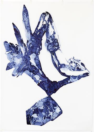 Celestite, 2012 Ink on drafting film 84 x 60 inches