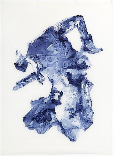 Gypsum, 2012 Ink on drafting film 84 x 60 inches
