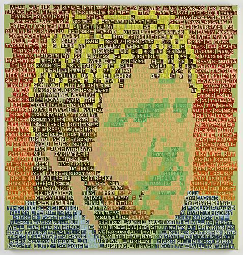 Harry Nilsson (All My Life) , 2013 Acrylic on canvas 47 x 45 inches