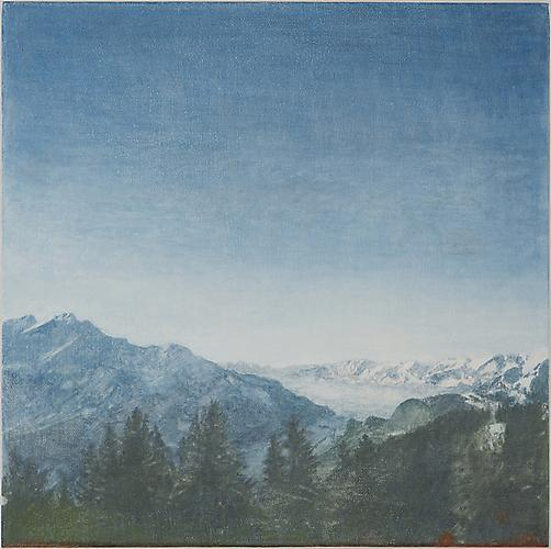 View/1998 , 2012 Oil on canvas 12 x 12 inches