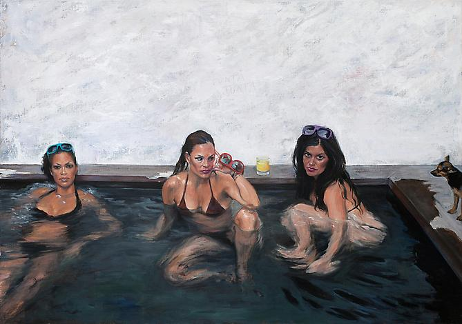 Hot Tub, 2012  Oil on linen 28 x 40 inches