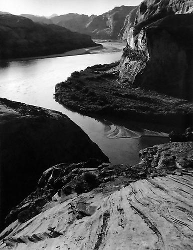 Bend In Colorado River Above Klondike Bar, Glen Canyon 1962 gelatin silver print