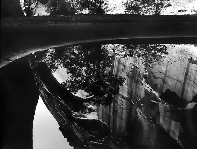Plunge Pool in Little Cathedral Canyon, Escalante Wilderness  1968 gelatin silver print