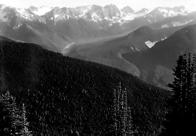 Tenpeak Range is in the North Cascades, Washington, USA 1956 gelatin silver print