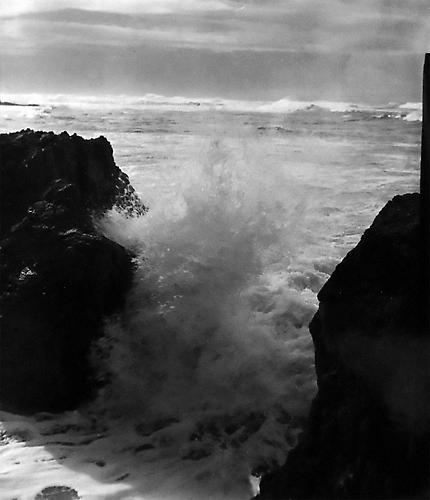 Surf, Spray and Rocks, Point Lobos State Reserve, CA 1949 gelatin silver print