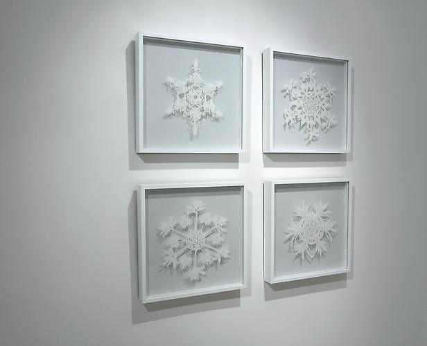 "Palm Tree Snowflake Grid ""Water Has A Memory"" Exhibition"