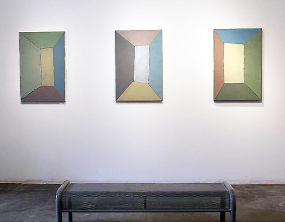 Untitled (Triptych), 2003-2013 Oil on canvas 36 x 24 inches, each