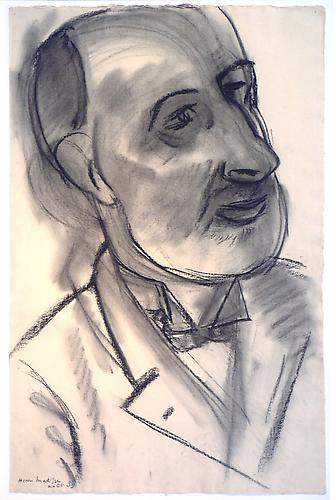 Henri MATISSE Portrait du Peintre Pallady, 1939 Charcoal on paper 24 x 16 inches