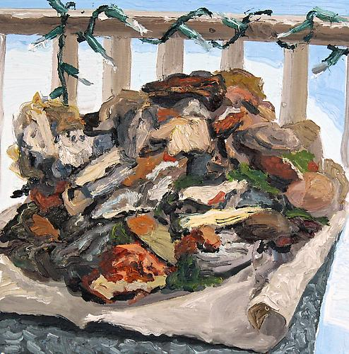 COLIN MUIR DORWARD | FESTIVE COMPOST | OIL ON CANVAS | 12 X 12 INCHES | 2014