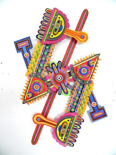 Illumine, 2011 paper, acrylic, gator board and glue 24 x 14.5 x 3 inches