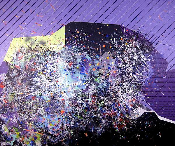 Information, 2012 acrylic and mixed media on canvas 60 x 72 inches