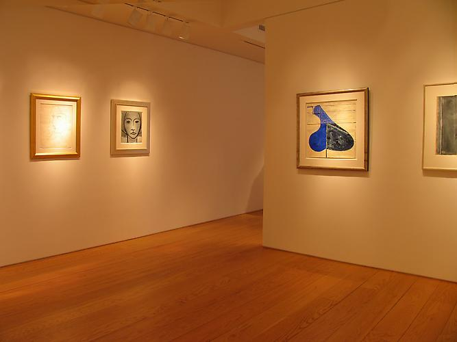 Installation view, Drawings by Henri Matisse and Richard Diebenkorn, 2012