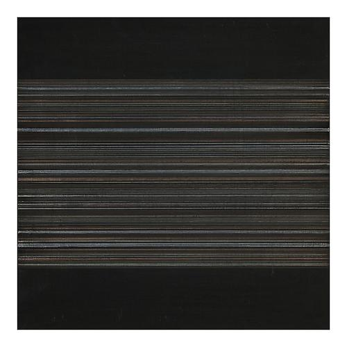 Interlunar Vibrations XVI, 2012 Silver/gold/tinpoint and black gesso on panel 12 x 12 inches