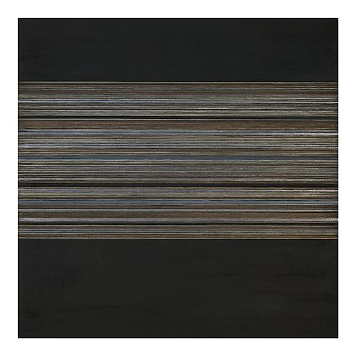 Interlunar XXI, 2012 Gold/aluminum/tin/silverpoint, acrylic, and black gesso on panel 16 x 16 x 1 1/2 inches