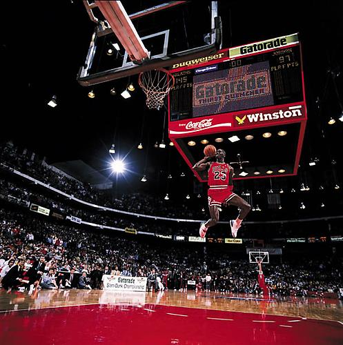 Michael Jordan Slam Dunk, Chicago 1988 Digital C-Print on Fuji Crystal Paper