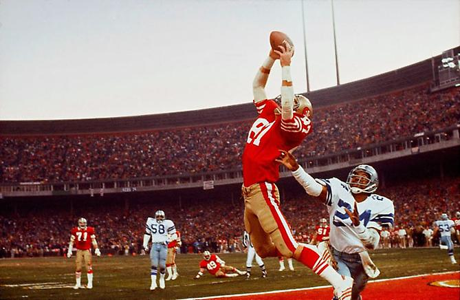 "Dwight Clark's ""The Catch""  49ers vs Cowboys, Candlestick Park, San Francisco, CA January 10, 1982 Digital C-Print on Fuji Crystal Paper"