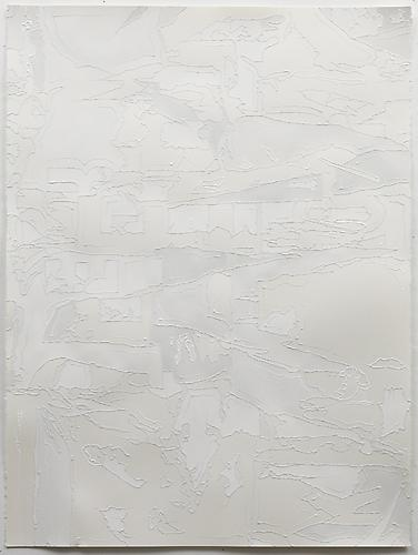 Shred #4 (65), 2012 Acrylic on paper 30 x 22 inches