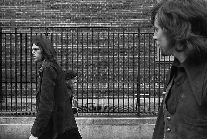 Joel Bernstein, Neil Young and Graham Nash, New York, NY  1970