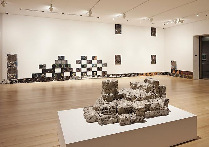 "Jedediah Caesar Installation View: Museum of Fine Arts, Boston, MA. ""Soft Structures"" (solo exhibition), December 17, 2011 - April 1, 2012"
