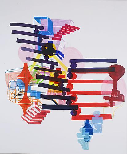 Joanne Greenbaum Fountain Sculpture 2003  120 x 100 inches oil on canvas