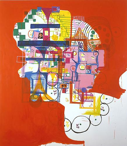 Joanne Greenbaum Trend Report 2004  80 x 70 inches oil on canvas