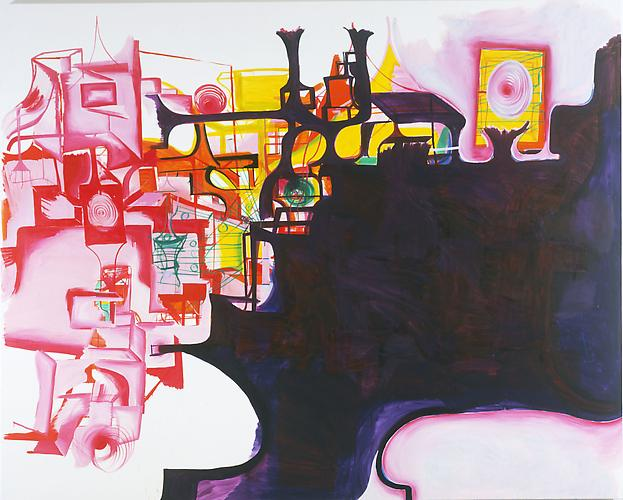 Joanne Greenbaum Bedroom Set 2005  80 x 100 inches oil on canvas