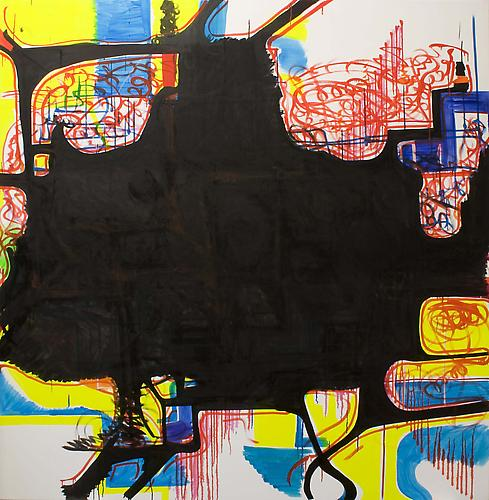 Joanne Greenbaum Untitled (Hollywood Squares #6) 2009 80 x 78 inches oil and acrylic on canvas