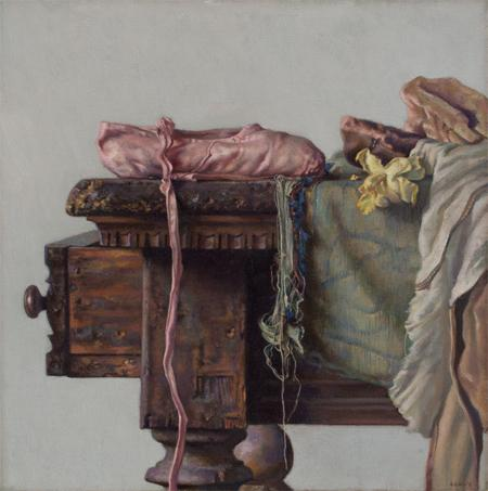 Danilova's Slipper, 2010  oil on canvas 16 x 16 inches