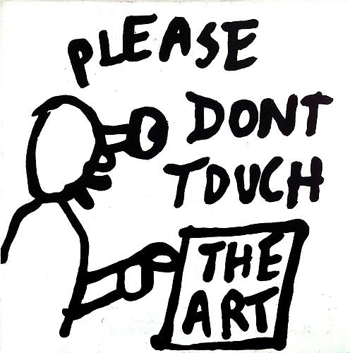Noah Lyon  Please Don't Touch the Art, Jeff Koons , 2013 Acrylic on canvas 36 x 36 inches